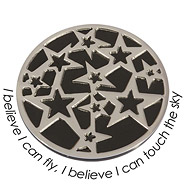 Wechsel-Münze I Believe I can Fly, I Believe I can touch the Sky, PVD Black Plated, L